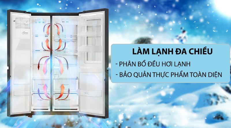 Tủ lạnh LG 613 Lít Side By Side Inverter GR-B247WB
