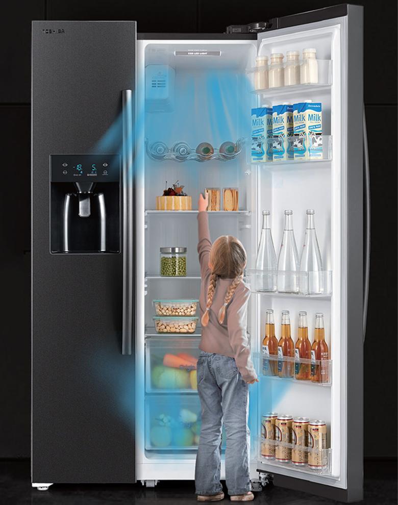 Tủ lạnh Toshiba 493 Lít Side By Side Inverter GR-RS637WE-PMV(06)-MG