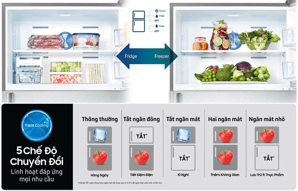Tủ lạnh Samsung 300 Lít 2 cửa Twin Cooling Inverter RT29K5532BU/SV