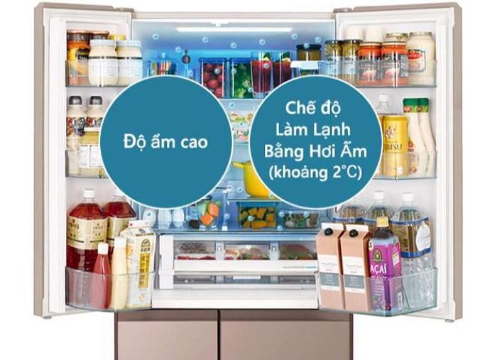 Tủ lạnh Hitachi 6 cửa Inverter 520 Lít R-HW530NV