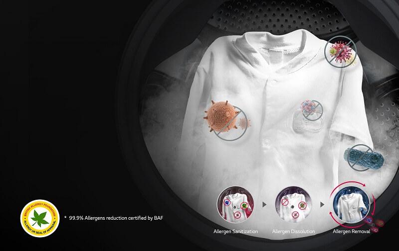 Máy giặt sấy LG 9kg lồng ngang inverter FC1409D4E công nghệ giặt