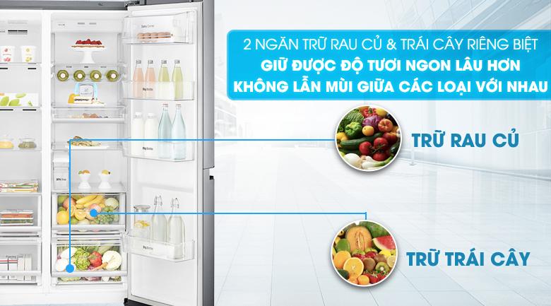 Tủ lạnh side by side LG GR - D247JS 668 lít