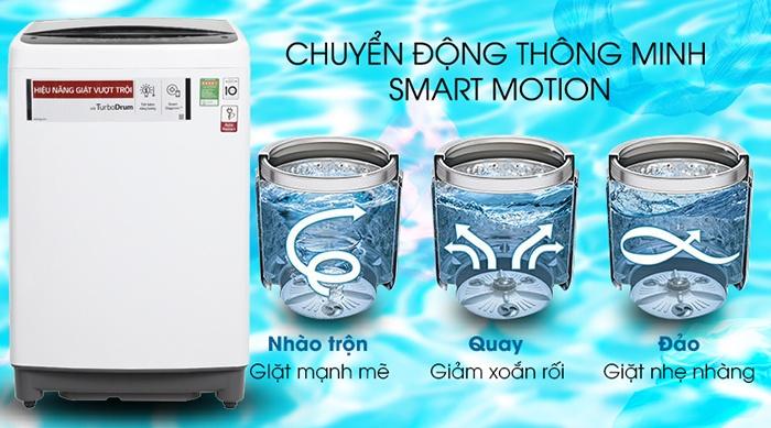 Máy giặt LG Inverter 8.5 kg T2385VS2W chuyển động thông minh