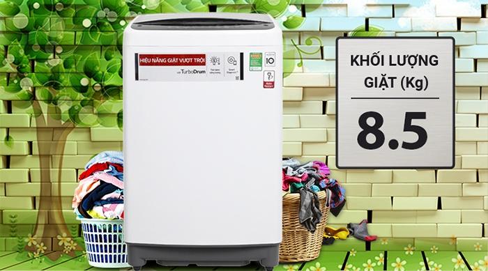 Máy giặt LG Inverter 8.5 kg T2385VS2W khối lượng giặt