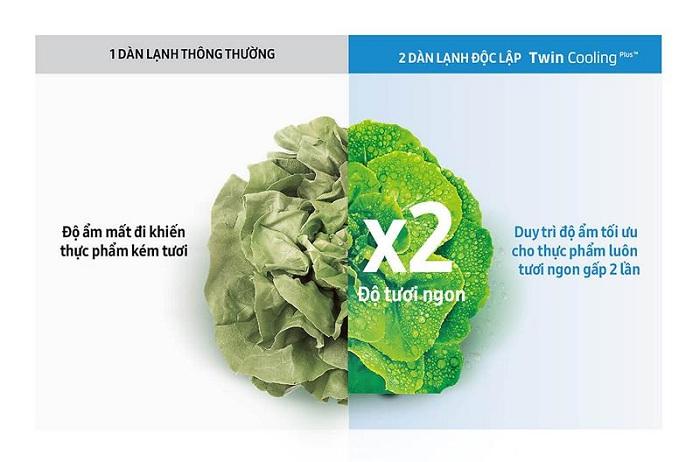 Tủ lạnh Samsung 360 lít Inverter RT35K5982BS/SV giá rẻ