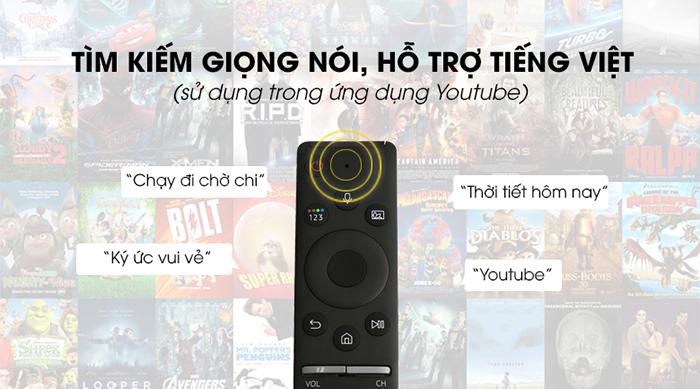 Tivi Samsung Smart Qled 4K 55 inch QA55Q80R tìm kiếm giọng nói tiếng việt