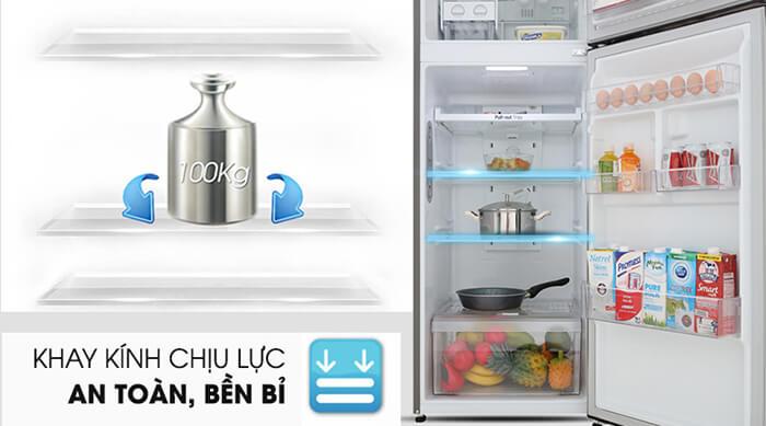 Tủ lạnh LG Inverter 315 lít GN-M315PS khay kính