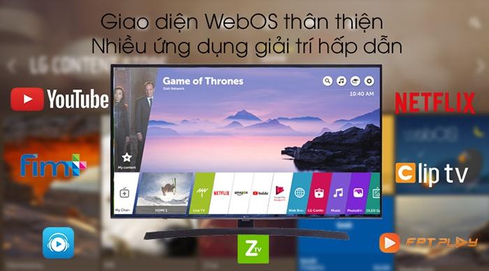Tivi LG Smart 4K HD 55 inch 55UM7300PTA đa ứng dụng