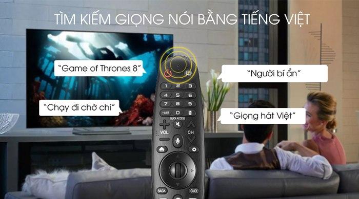 Tivi LG Smart 4K HD 55 inch 55UM7300PTA tìm kiếm bằng giọng nói