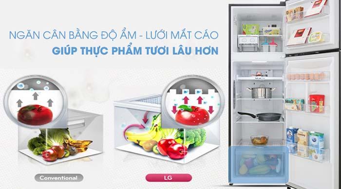 Tủ lạnh LG 255 lít inverter GN-M255BL