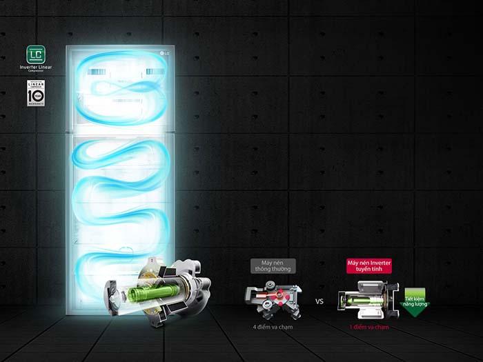 Tủ lạnh LG 393 lít inverter GN-M422PS