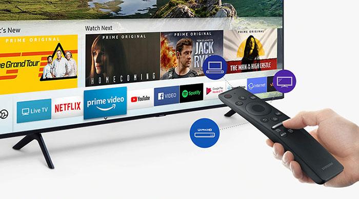 Tivi Samsung Smart Qled 4K 82 inch QA82Q65R dễ điều khiển