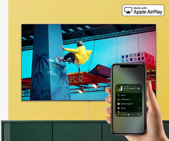 Tivi Samsung Smart Qled 4K 82 inch QA82Q65R kết nối điện thoại