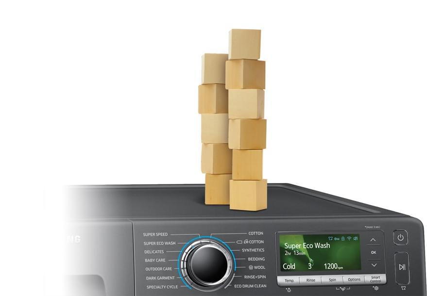 Máy giặt 9 Kg Samsung WW90J54E0BX/SV hơi nước chống rung