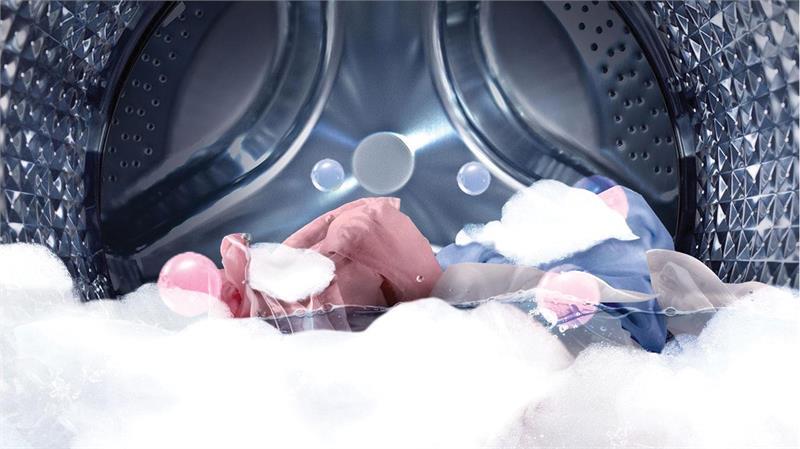 Máy giặt 9 Kg Samsung WW90J54E0BX/SV hơi nước loại bỏ vết bẩn