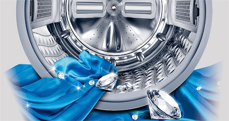 Máy giặt 9 Kg Samsung WW90J54E0BX/SV hơi nước lồng kim cương
