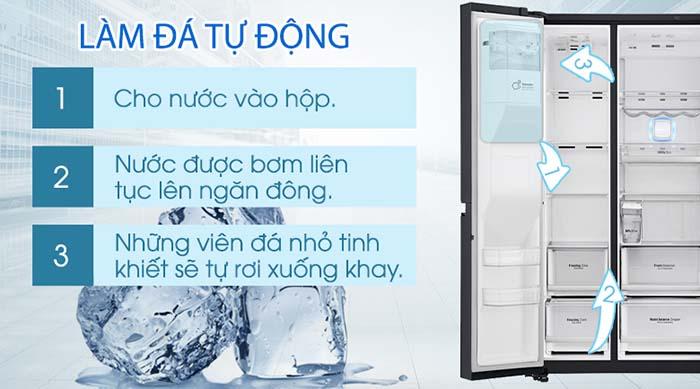 Tủ lạnh LG 601 lít inverter GR-X247MC làm đá tự động