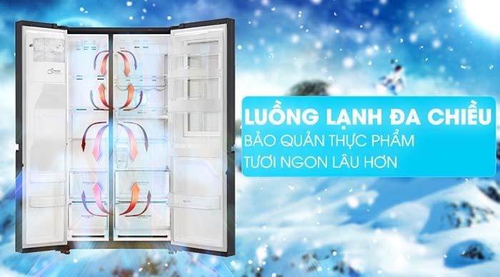 Tủ lạnh LG 601 lít inverter GR-X247MC lạnh đa chiều