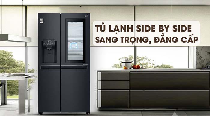 Tủ lạnh LG 601 lít inverter GR-X247MC sang trọng