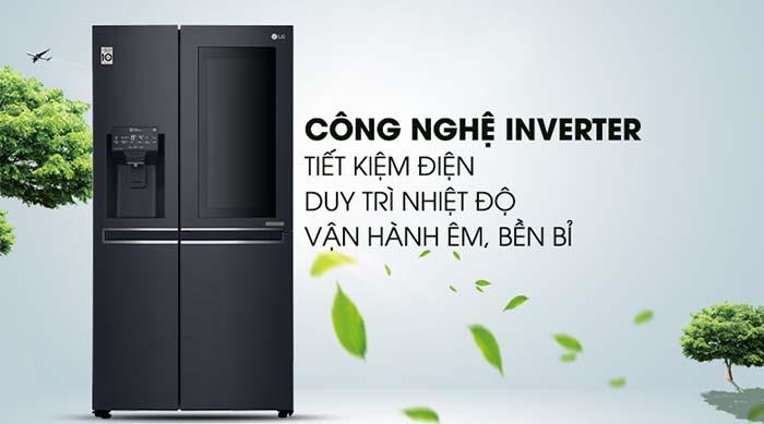 Tủ lạnh LG 601 lít inverter GR-X247MC tiết kiệm điện