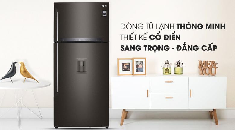 Tủ lạnh LG 478 lít Inverter GN-D602BL