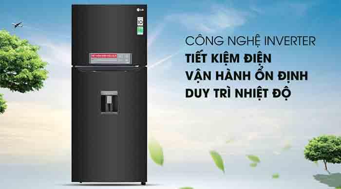 Tủ lạnh LG 393 lít inverter GN-D422BL
