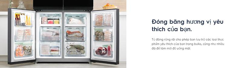 Tủ lạnh Electrolux inverter 695 lít EQE6909A - BVN công nghệ cao cấp