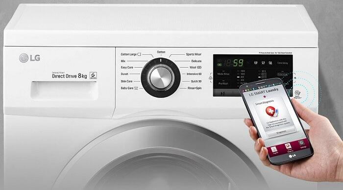 Máy giặt LG Inverter 9 kg FM1209N6W thông minh