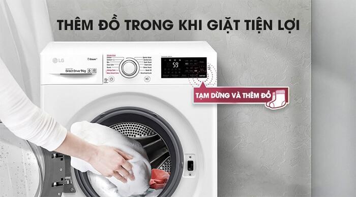 Máy giặt LG Inverter 9 kg FM1209N6W tiện lợi