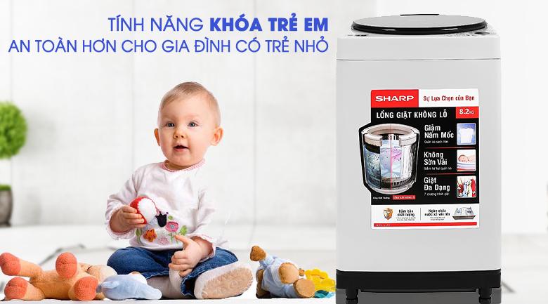 Máy giặt Sharp ES-W82GV-H 8.2Kg