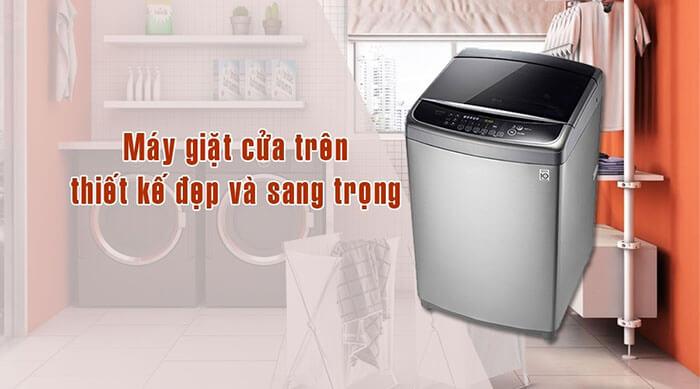 Máy giặt LG 15kg lồng đứng inverter WF-D1617SD sang trọng
