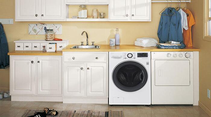 Máy giặt sấy LG 14 kg F2514DTGW - màu trắng sang trọng