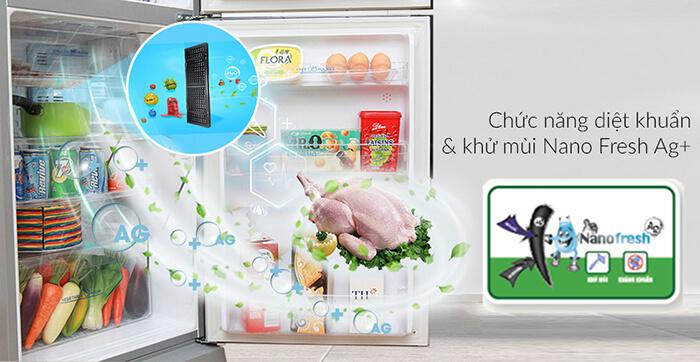 Tủ lạnh Aqua 252 lít inverter AQR-IP257BN diệt khuẩn